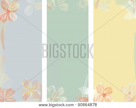 Flower Watercolor Background