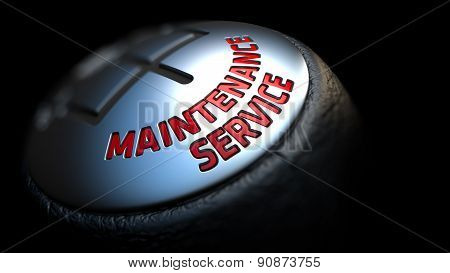 Maintenance Service on Gear Stick with Red Text.