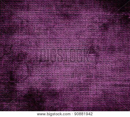 Grunge background of byzantium burlap texture