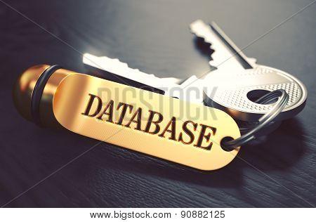Database written on Golden Keyring.