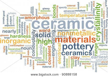 Background concept wordcloud illustration of ceramic