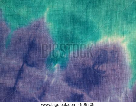 Turquoise & Purple Tie-Dye Close