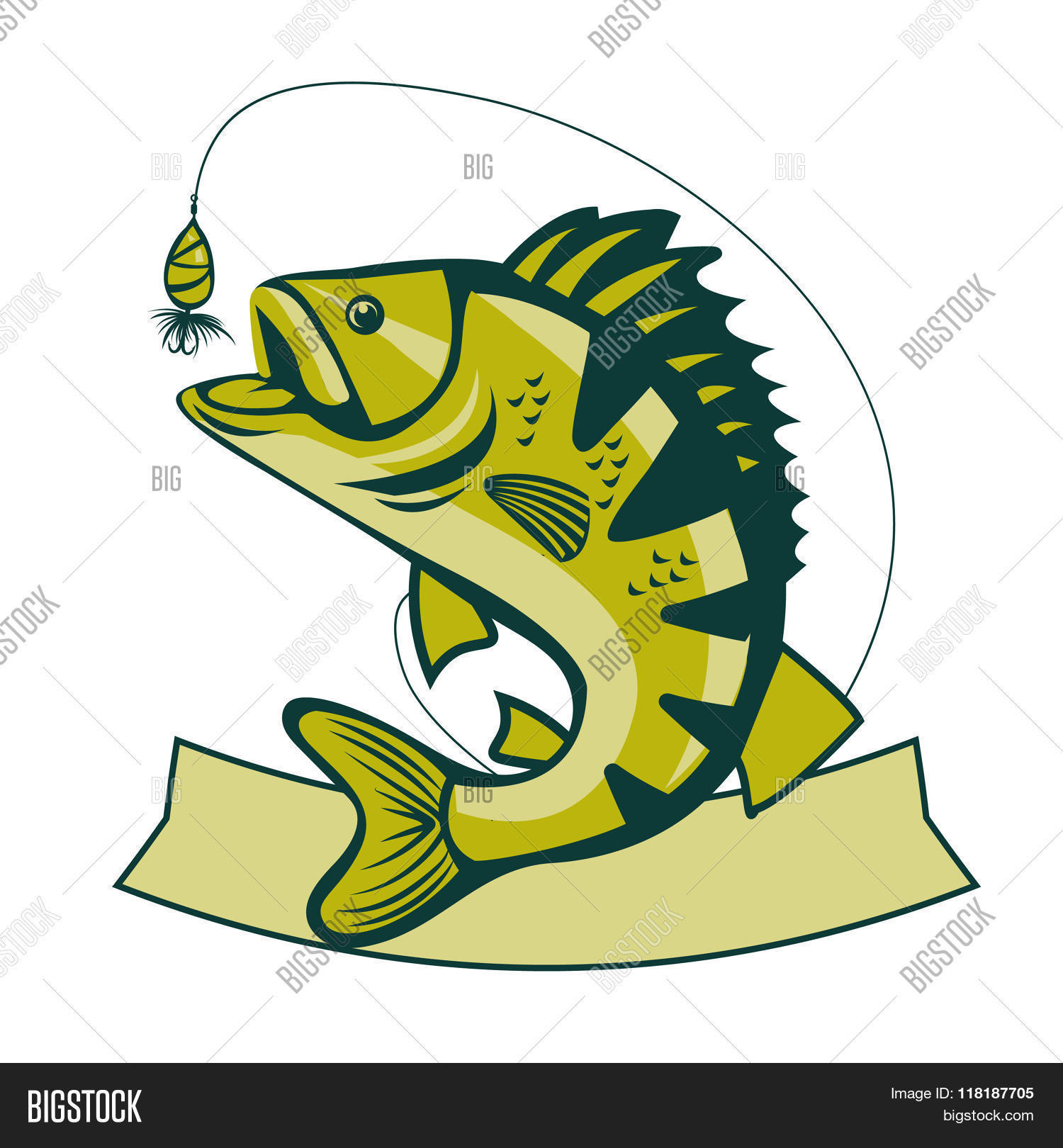 Catching Bass Fish. Vector Fish Vector & Photo | Bigstock