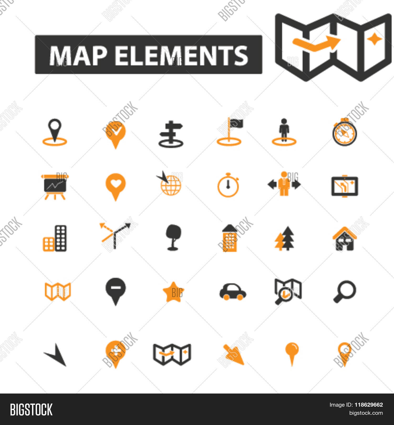 Navigation Icons Vector Photo Free Trial Bigstock