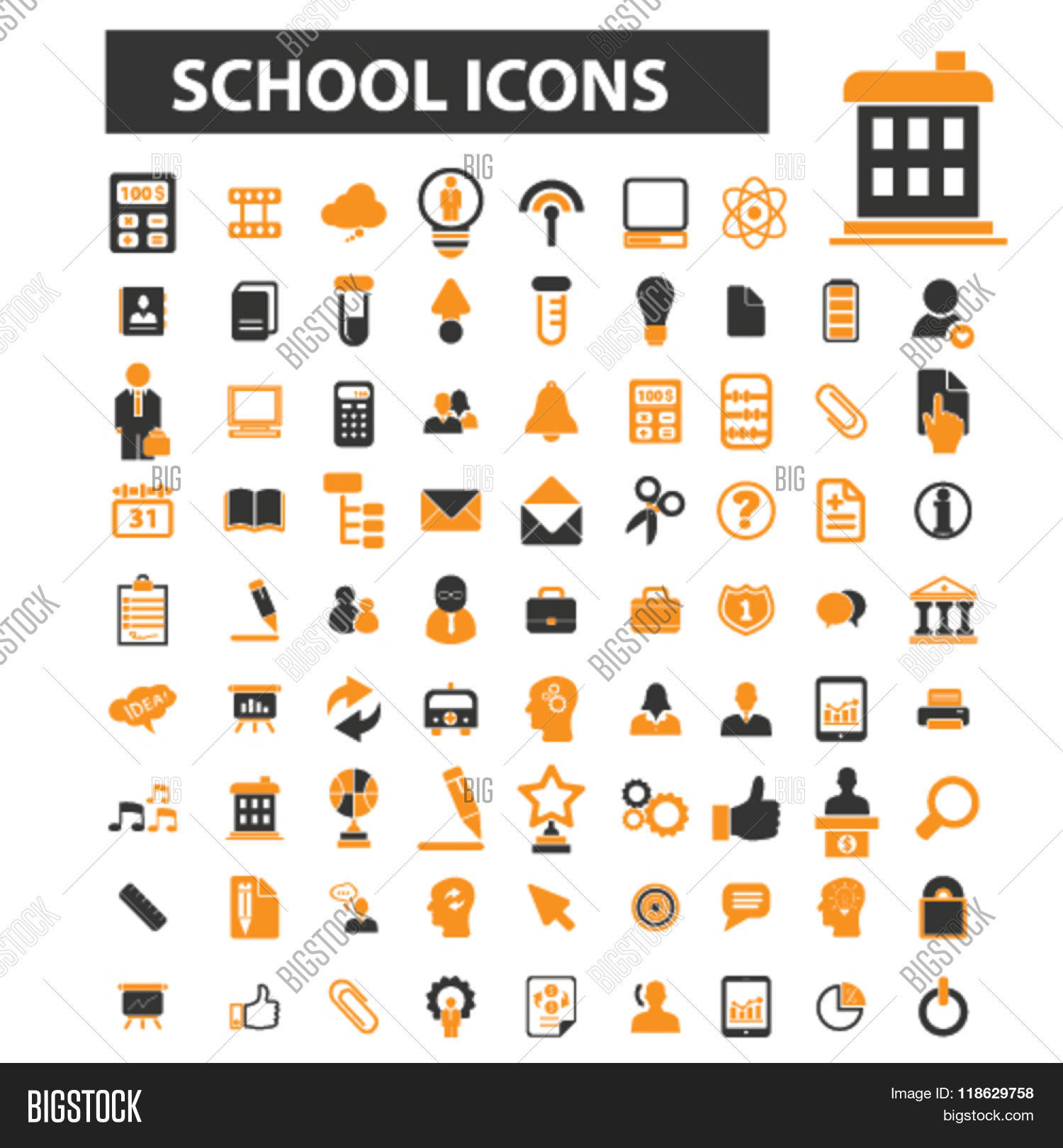 Teach icons teach logo school vector photo bigstock teach icons teach logo school icons vector school flat illustration concept school buycottarizona Image collections