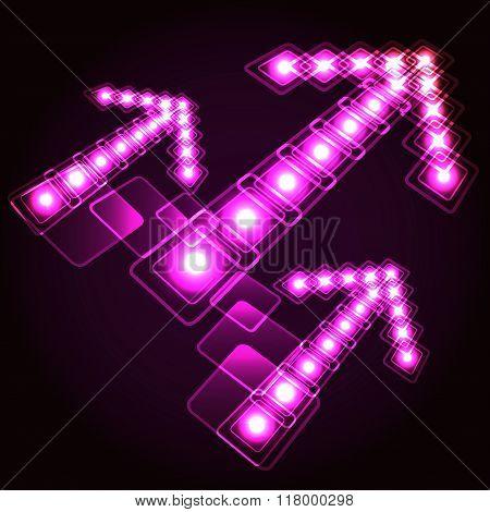 Neon Arrows