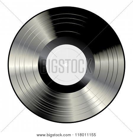 vector blank white label LP vinyl record
