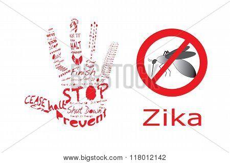 Stop Zika With Hand