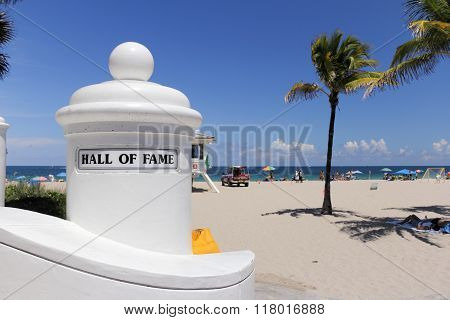 Hall Of Fame Beach Entry Sign