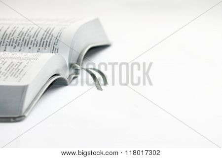 Book On A White Background. Bible.