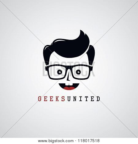 Geek Nerd Guy Cartoon