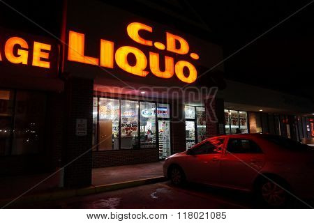 C.D. Liquors During the Night