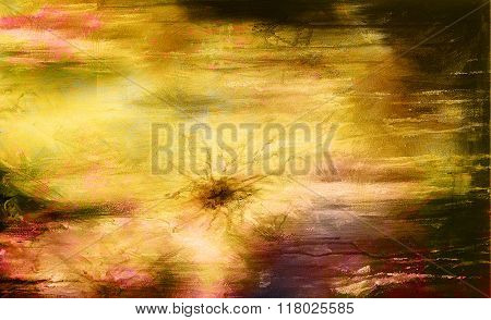 Color Abstract background and yellow with ocre color.