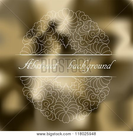 Abstract Khaki Background With Pattern.
