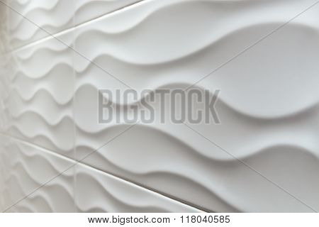 white tile wavy shape