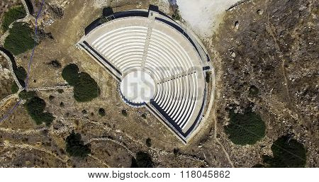 Ancient Greek Amphitheatre In Ios Island, Greece.