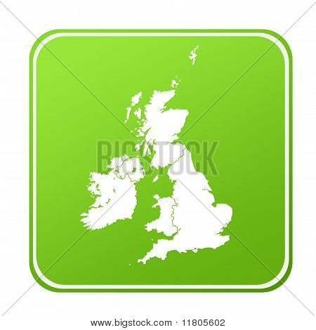 United Kingdom Map Button