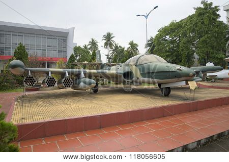 Plane Cessna A-37 Dragonfly in the museum 5th militarized zone. Da Nang, Vietnam