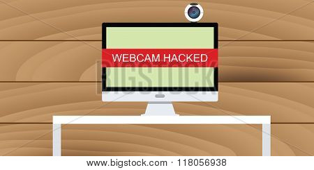 web cam hack webcam hacked illustration pc desktop computer camera
