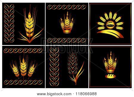 Vector Logo Set Of Agriculture