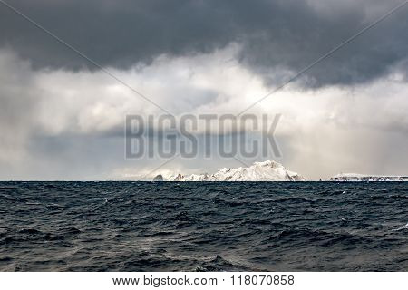 cold Arctic Islands in the North Pacific ocean