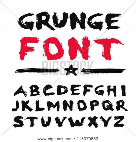 Painted Grunge Font
