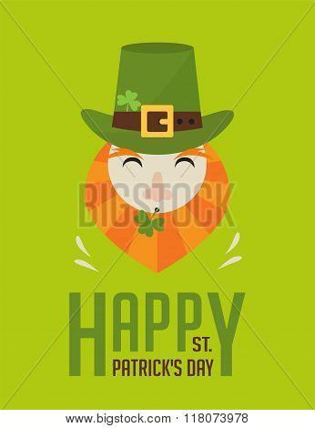 happy St. Patricks day. Irish man with beer, St. Patricks Day design