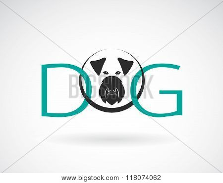 Vector Design Dog Is Text On A White Background.