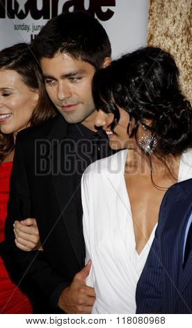 Emmanuelle Chriqui and Adrian Grenier at the Season 7 Premiere of