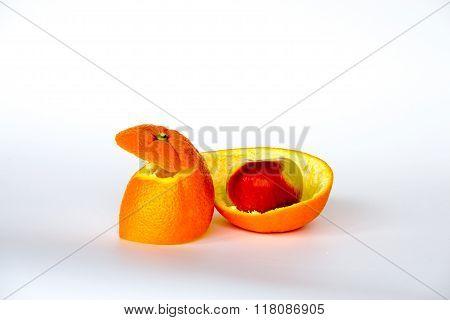 Apple Inside The Orange