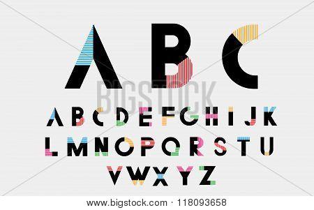 Color alphabetic fonts