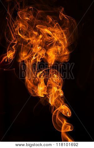 Abstract detail flame