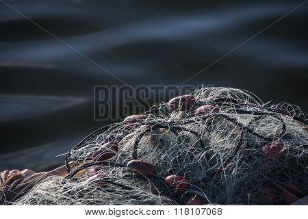 Coiled Fishing Net Closeup