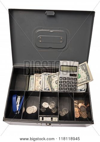 Old Cash Box Ready for Garage Yard Rummage Sale or Farmers Market