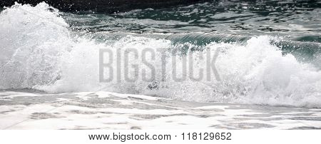 Oncoming Waves On The Beach Sochi