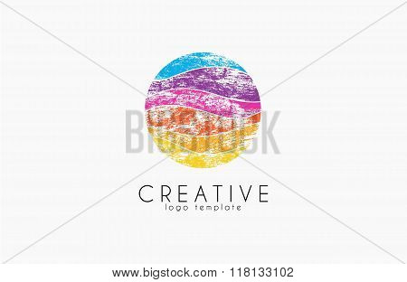 Colorful logo. geometric icon. technology logo. web net logo icon. Geometric logo. Company logo. Vec