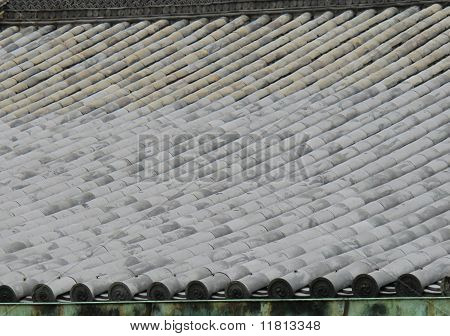 Traditional Japanese rooftiles