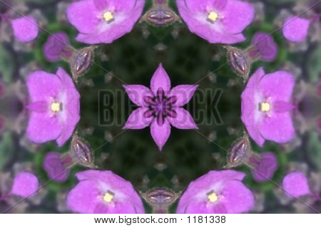 Stock Image Of Dreamy Violet Kaleidoscope
