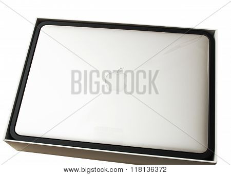 New Apple Macbook Pro Laptop Covered By The Plastic Film