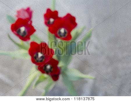 Abstract Red Tulips. Spring Background.