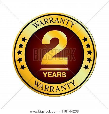Two Year Warranty Design. Two Year Warranty Design isolated on white background.