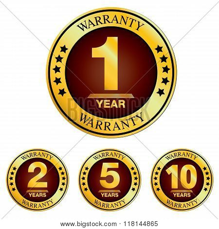 Warranty logo. Warranty Design isolated on white background. poster