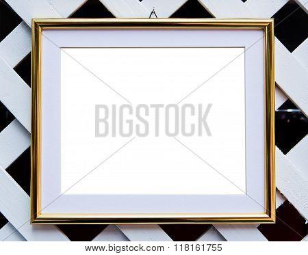 vintage frame. Elegant vintage gold/gilded picture frame with beading