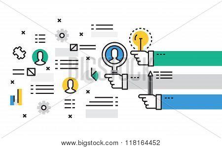 Flat line design vector illustration concept of Career. Design for Website Element , Web Banner and