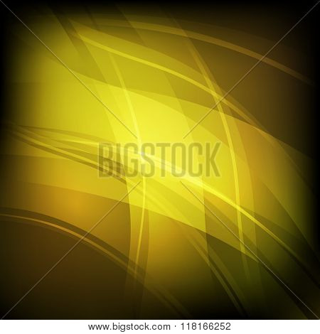 Abstract Background With Yellow Line Wave