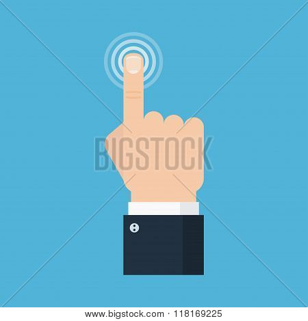 Hand Touch Vector Illustration