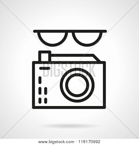 Journalist black line abstract vector icon