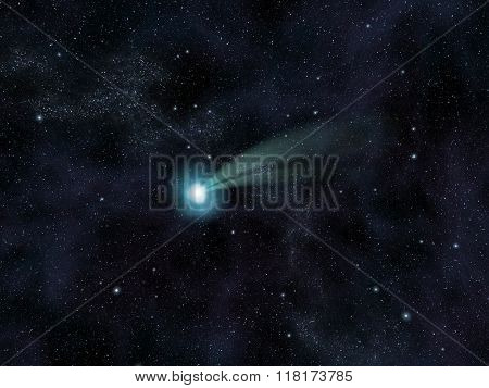 Comet Against The Stars