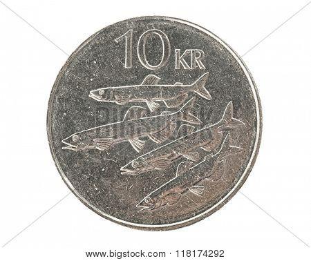 Icelandic 10 krona coin