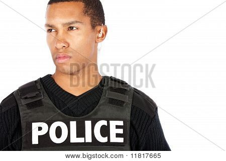 Police officer on patrol